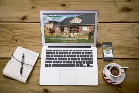 Fence and Deck Contractor  – WordPress Company Website
