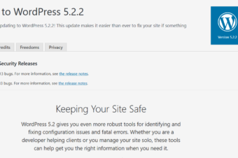 WordPress 5.2.2 was released to the public on June 18,2019