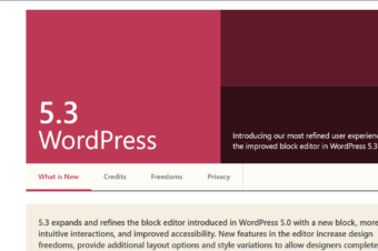 WordPress 5.3 is now available!