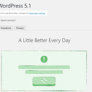 "WordPress 5.1 ""Betty"" was released on February 21, 2019."