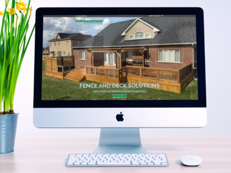 Fence and Deck Contractor  –  Website  Redesign  Company Website