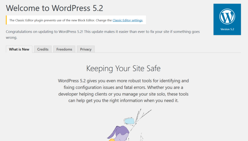 "WordPress 5.2 ""Jaco"" was released on May 7, 2019"