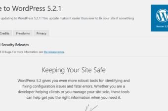 WordPress 5.2.1  was released  on May 21, 2019 – Maintenance and Security Release
