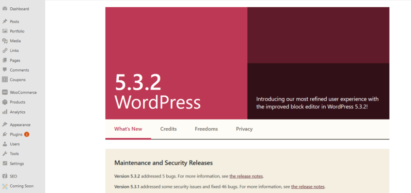 WordPress Version 5.3.2 Maintenance and Security Release