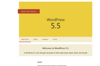 "WordPress 5.5. ""Eckstine"" was release on August 11, 2020"