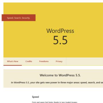 """WordPress 5.5. """"Eckstine"""" was release on August 11, 2020"""