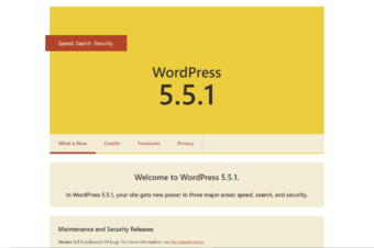 WordPress 5.5.1 was released on September 1, 2020