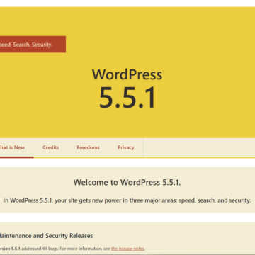 WordPress 5.5.1 was released on September 1, 2020